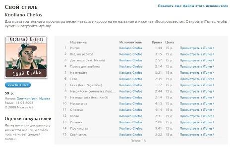"""Альбом Koolian0 Chefos'а - """"Свой Стиль"""" на iTunes!"""